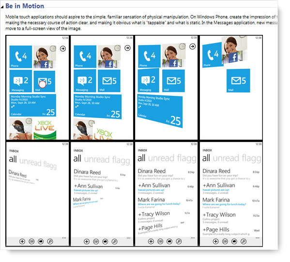 UX Design Guidelines for Windows Phone - Metro