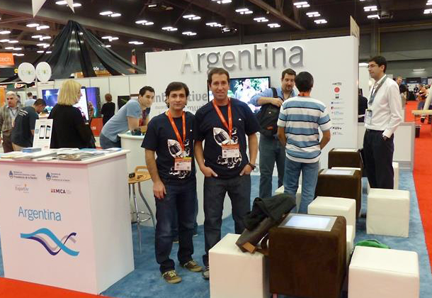 Cesar DOnofrio & Nacho Caldentey in the Argentine Booth at SXSW 2013