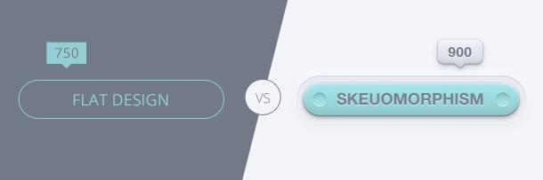 Flat vs. Skeuo