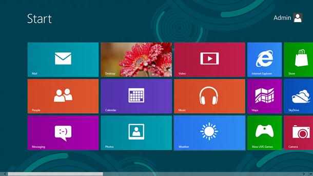 Windows 8 Metro User Interface.